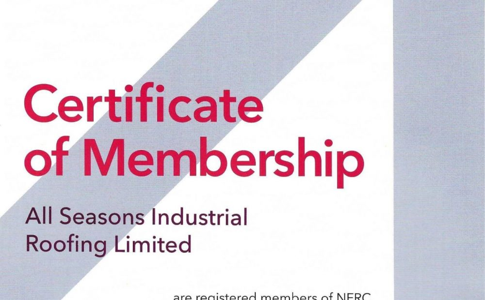 National Federation of Roofing Contractors Accreditation - All Seasons Industrial Roofing
